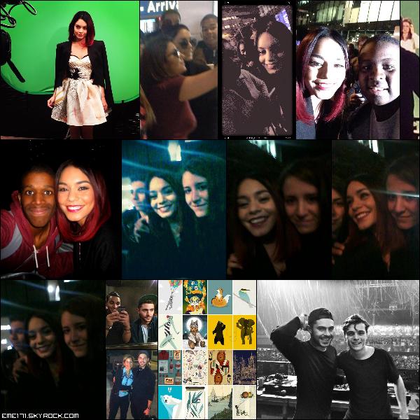 Photo Perso de Nessa. Photos Fans de Nessa à Paris. Photo Instagram de Nessa. 2 Photos Fans de Zac. Photo FB de Nessa. Twitpic de Zac.