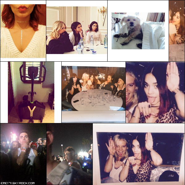 Photo Instagram de Nessa. Photo Perso de Nessa avec Selena et Ash Benson lors de la promo de Spring Breakers à Paris en Mars 2013. Photos Instagram de Nessa et Ash. 2 Photos Persos de Nessa avec les filles. 2 Photos Fans de Zac sur le set de WAYF le 2 Novembre.