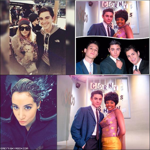 Photo Fan d'Ash. Photo Instagram de Zac et Ash. Twitpic de Zac.