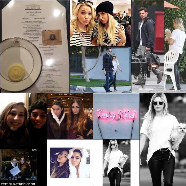 Photo Instagram de Nessa. Photo Perso d'Ash avec Emily. Résumé Photos d'Ash le 8 Février et de Zac le 9 Février. Photos Fans de Nessa à Washington.Photos Instagram d'Ash et Nessa.