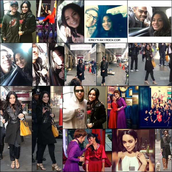 Résumé Photos de Nessa le 11 Mars à NYC ainsi que les Photos Fans. Photo Instagram de Nessa. Résumé Photos d'Ash le 11 Mars.