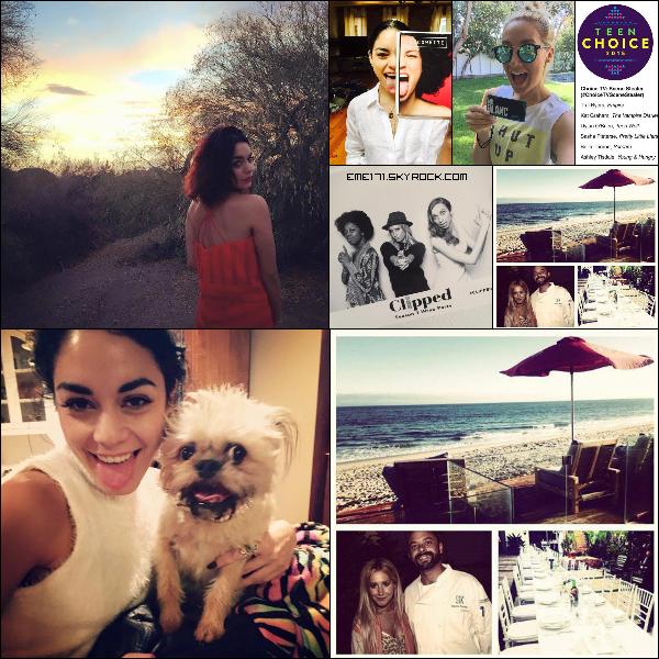 Photo Instagram et Twitpic de Nessa. Photo FB et Instagram d'Ash. 2 Photos Persos d'Ash. Photo Instagram de Nessa.