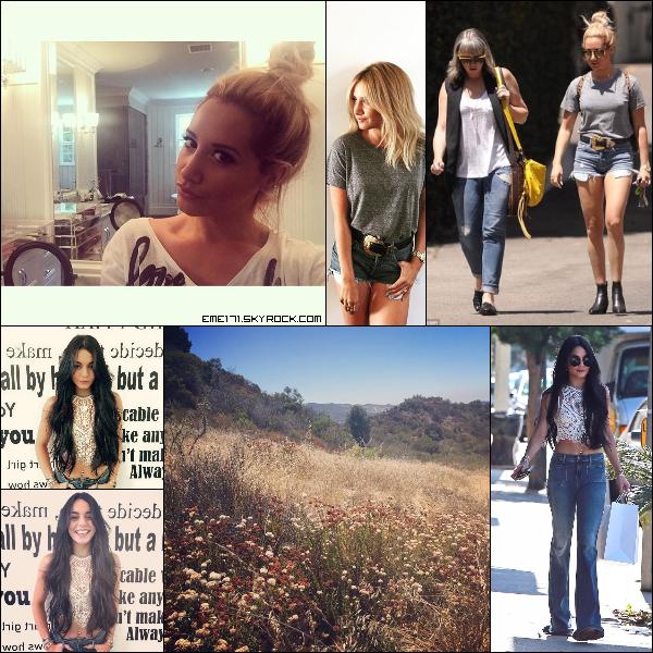 2 Photos Instagram d'Ash. Résumé Photo d'Ash le 15 Juillet à LA. 2 Photos Instagram et une Perso de Nessa. Résumé Photo de Nessa le 16 Juillet dans West Hollywood.