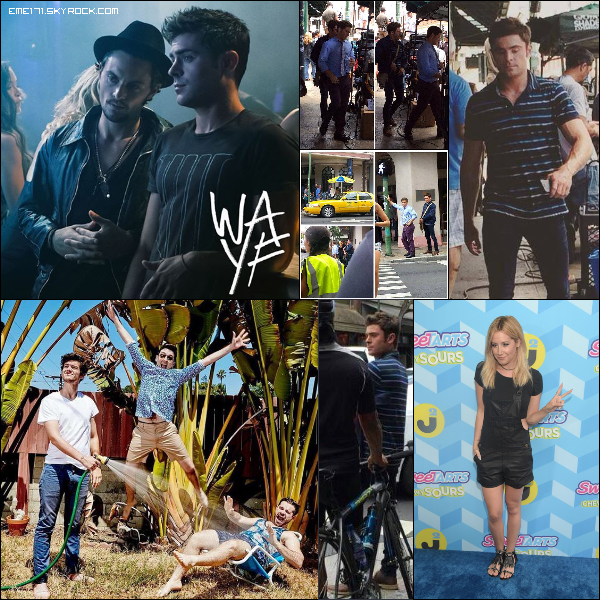 Photo de Zac pour WAYF. 4 Photos Fans de Zac le 17 Juillet sur le set de Mike and Dave. Twitpic d'Ash. Résumé Photo d'Ash le 18 Juillet à LA.