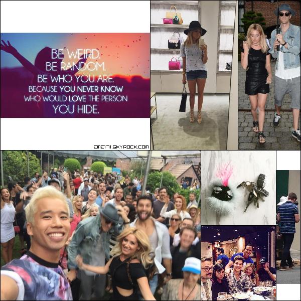 2 Photos Instagram et Photo Perso d'Ash. Résumé Photo d'Ash le 18 Juillet à Hollywood. Photo Instagram d'Ash. 2 Photos de Zac lors du set de Mike and Dave.