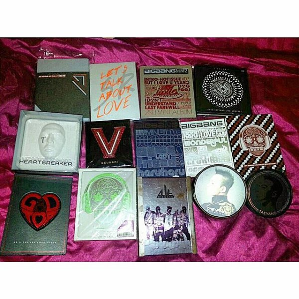 ma collection d'album BIGBANG