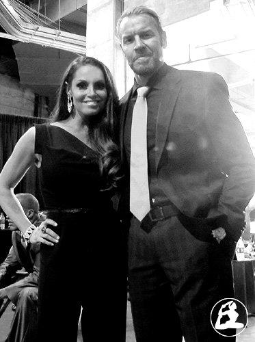 Trish avec des catcheur au Hall Of Fame 2014