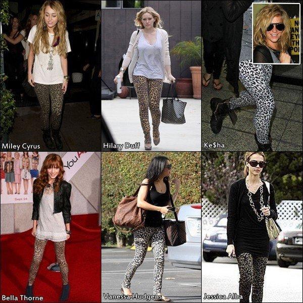 Qui de ces six stars portent le mieux le legging léopard ?