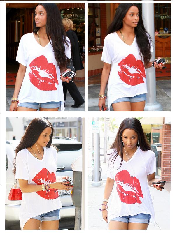 16/03/11: Ciara, sortant d'un centre médical. Ensuite vue se promenant dans les rues de Beverly Hills.