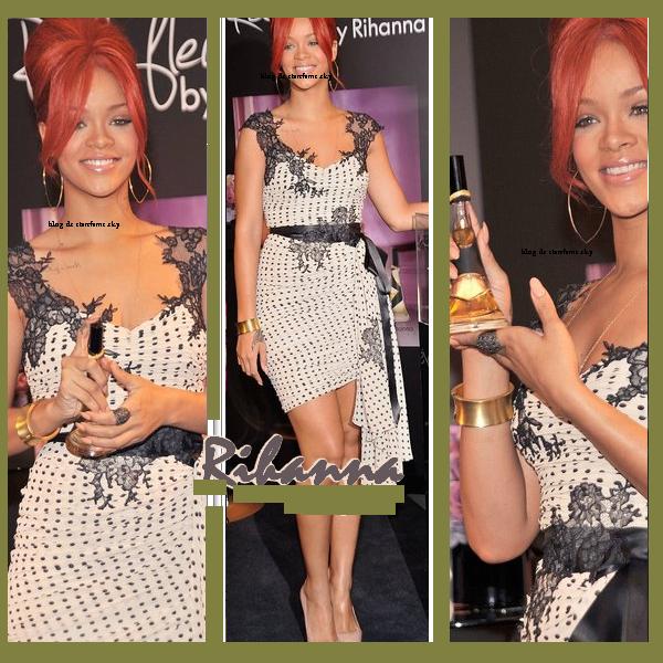 29/04/11 Rihanna est allé faire la promotion de son parfum Reb'L Fleur au magasin Macy à New York