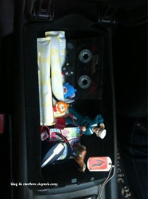 Miley nous montre sa boîte à gants rirs