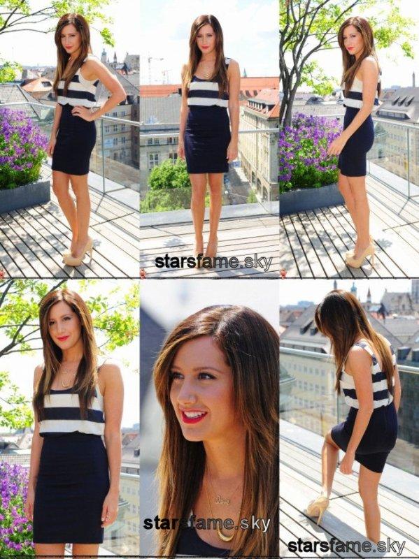 """Ashley est en Allemagne pour la promo de """"Sharpay's Fabulous Adventure""""19 Mai elle a fait un photocall à Munich"""