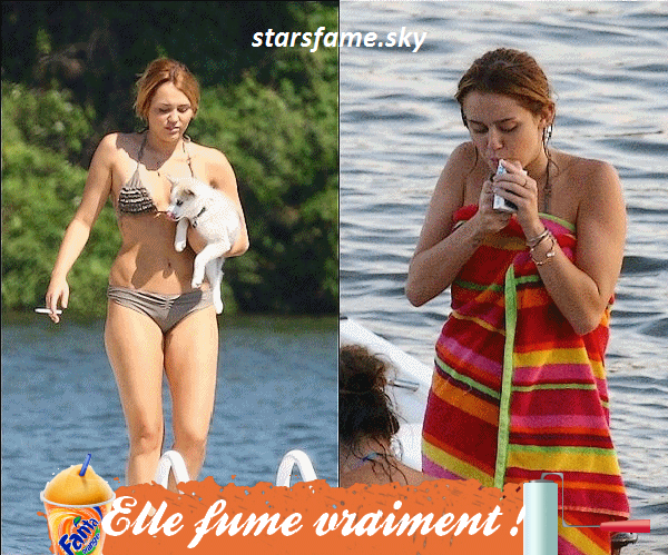 Miley fume vraiment et le cache pas, choquée ou pas?