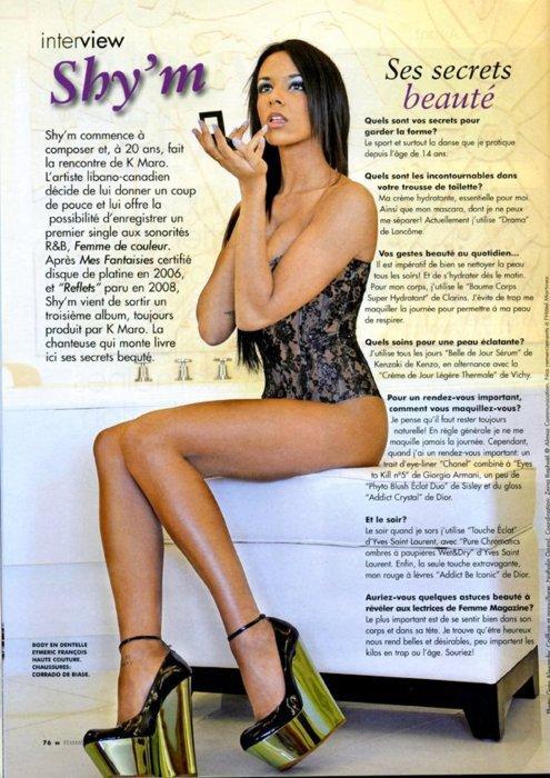 Shy'm fait la Une des magazines spesiale beaute . C normale elle c une beaute .