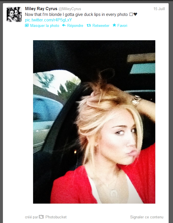 miley en blonde vous en penser quoi ?!