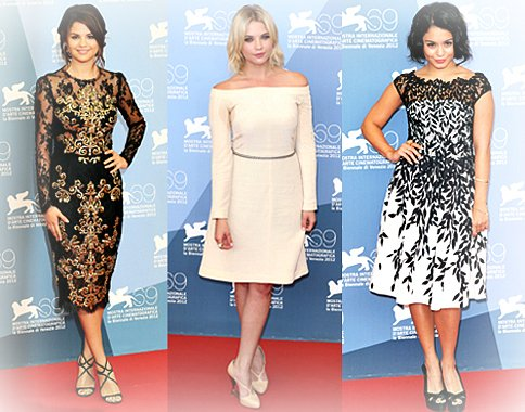 les stars du filme Spring Breakers Sublime au Festival du film à Venise.