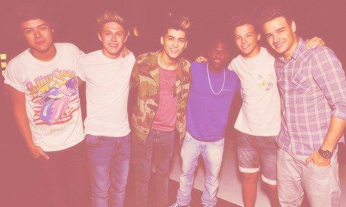 les One Direction aux nouvelles répétitions des MTV VMA's 2012.