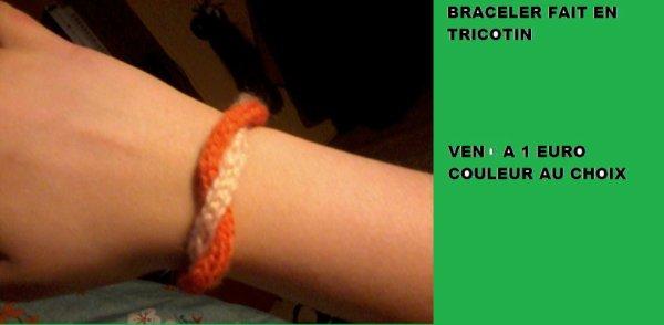 braceler fait au tricotin
