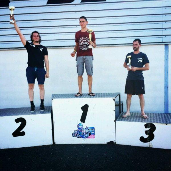 Premier podium avec une 2ème place de chatillon sur Indre
