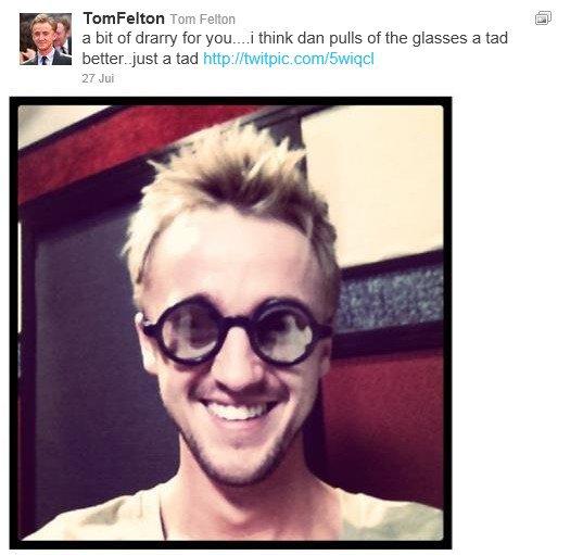 La minute twitter c'est quoi ? Un petit zoom sur les derniers tweets de nos acteurs préférés ! Aujourd'hui à l'honneur : Tom Felton.