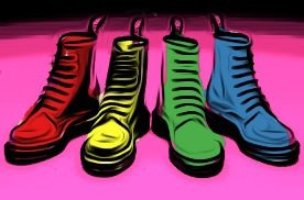 Doc Martens paint