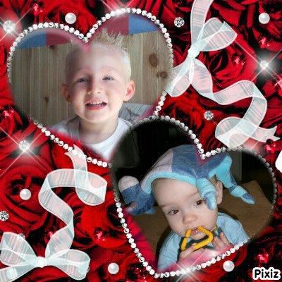Kylian le fils de mon homme et Tymeo mon doudou