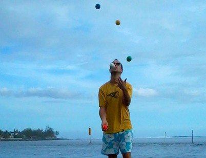 5 balles Etang Salé ( Réunion )
