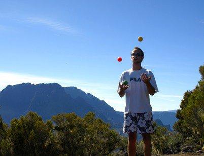 3 balles au Maïdo cirque de Mafate ( Réunion )