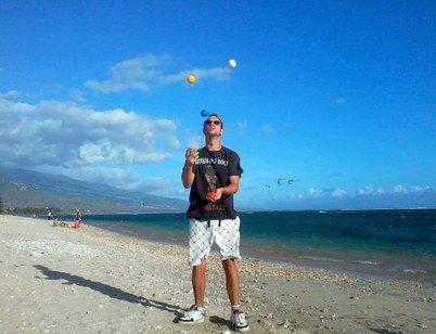 5 balles plage de la Saline ( Réunion )
