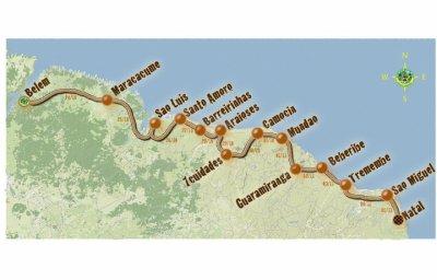 voici le parcours du raid Brazil 2011