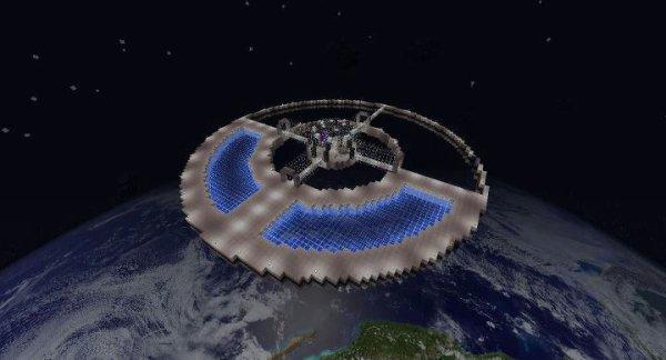 ma station stellaire sur minecraft