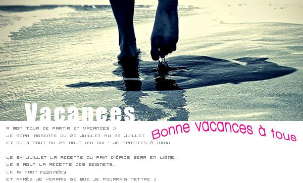 Vacances... :)