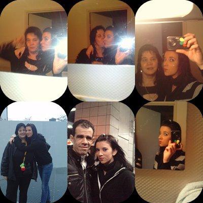 Moi & ma fille a Paris . ainsi que mon homme