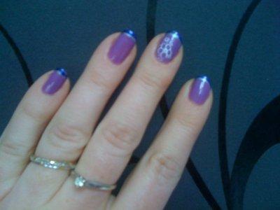 french violette et bleu