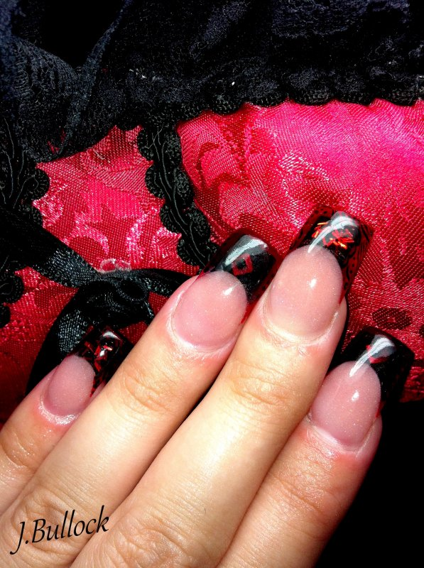 French noir et rouge transparent ...