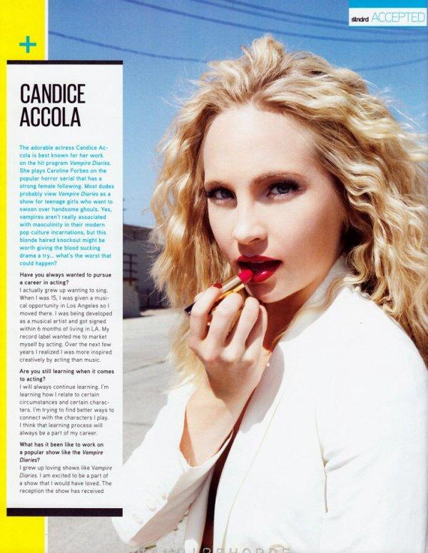 Candice Standard Magazine + Interview Joseph
