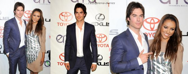 Ian et Kat au Environmental Media Awards + Shoot promo Season 4