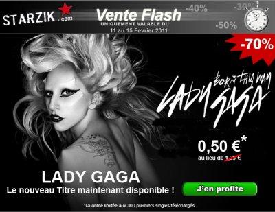 Born This Way, le Nouveau Single de Lady Gaga à 0.50¤ uniquement sur Starzik, profitez-en !