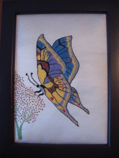 le papillon peinture l 39 aiguille blog de martijosy28. Black Bedroom Furniture Sets. Home Design Ideas