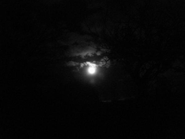La pleine lune...