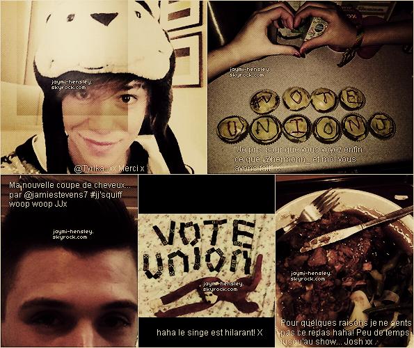 03/11/2012[/font=georgia] Voici plusieurs nouvelles photos postées sur le comptes twitter des garçons. traduction par moi.