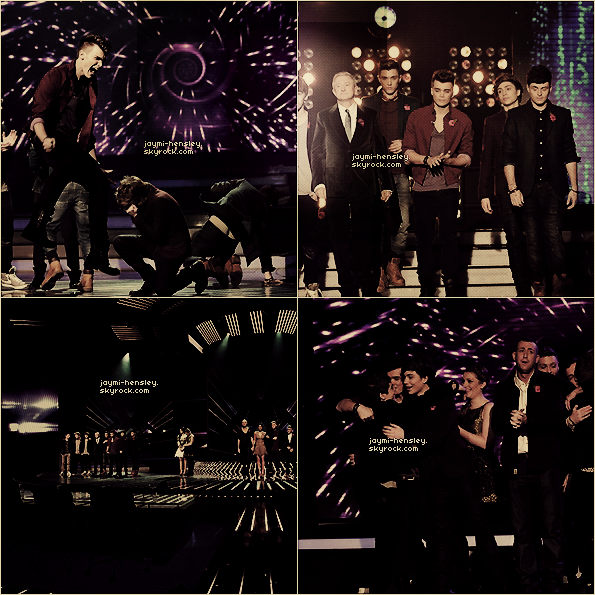 "04/11/2012[/font=georgia] The xfactor finalists interpretant ""Good Time"" lors des résultats."