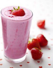 milk-shake à la fraise