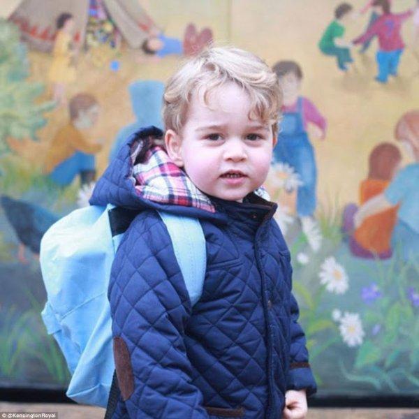 La première rentrée scolaire du prince Georges