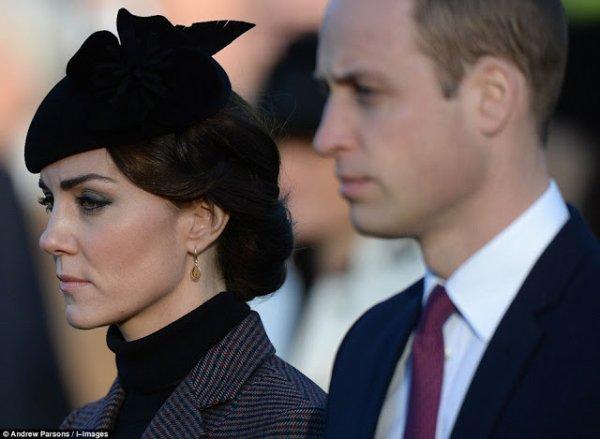 Kate et William - Messe à Sandringham