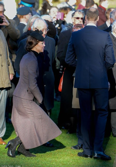 Kate et William - Messe à Sandringham