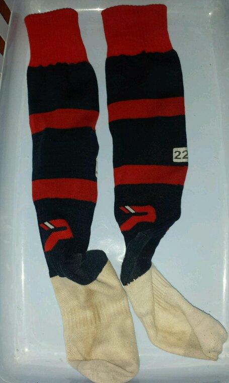 Chaussettes porté  entraînement Clermont foot