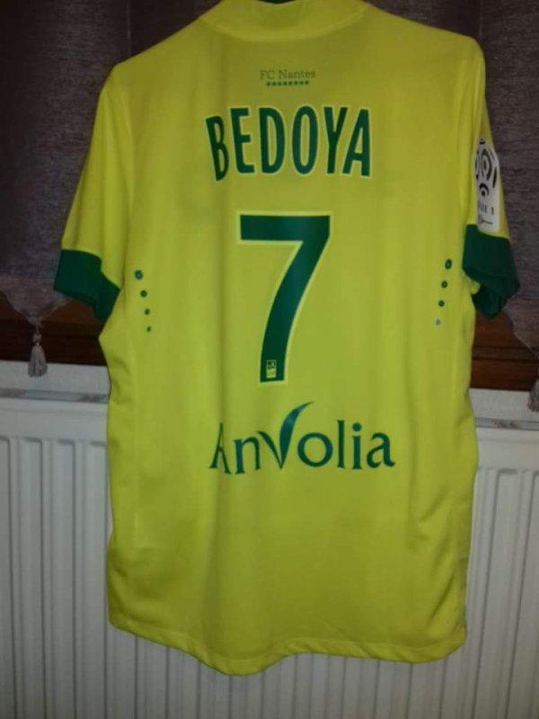 Maillot  Fc Nantes  porté par Beboya contre  le PSG