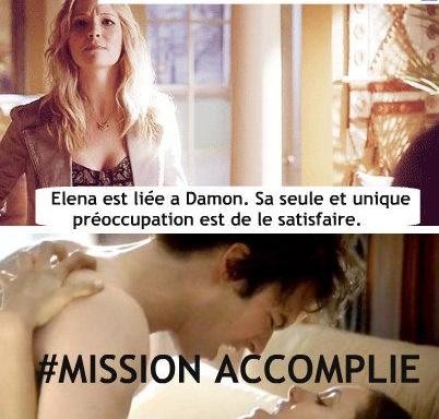 Toujours prête à aider Elena xD