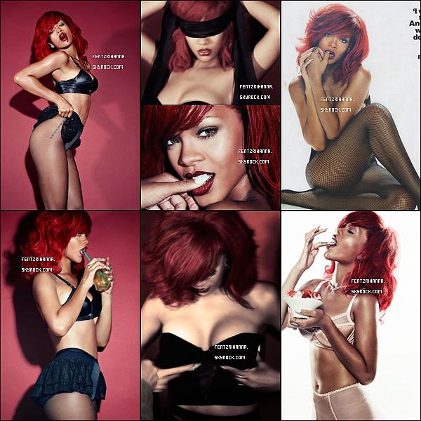 .  Photoshoot pour GQ British Janvier 2011 :   Rihanna pose pour le magazine GQ. Elle est magnifique et très sensuelle.  .